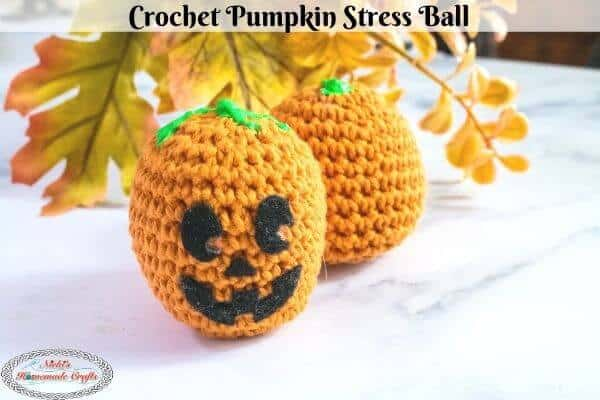 Crochet Pumpkin Stress Ball