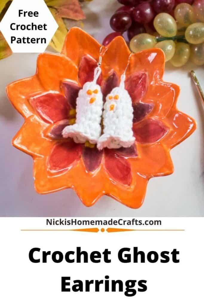Free Crochet Ghost Earrings Pattern