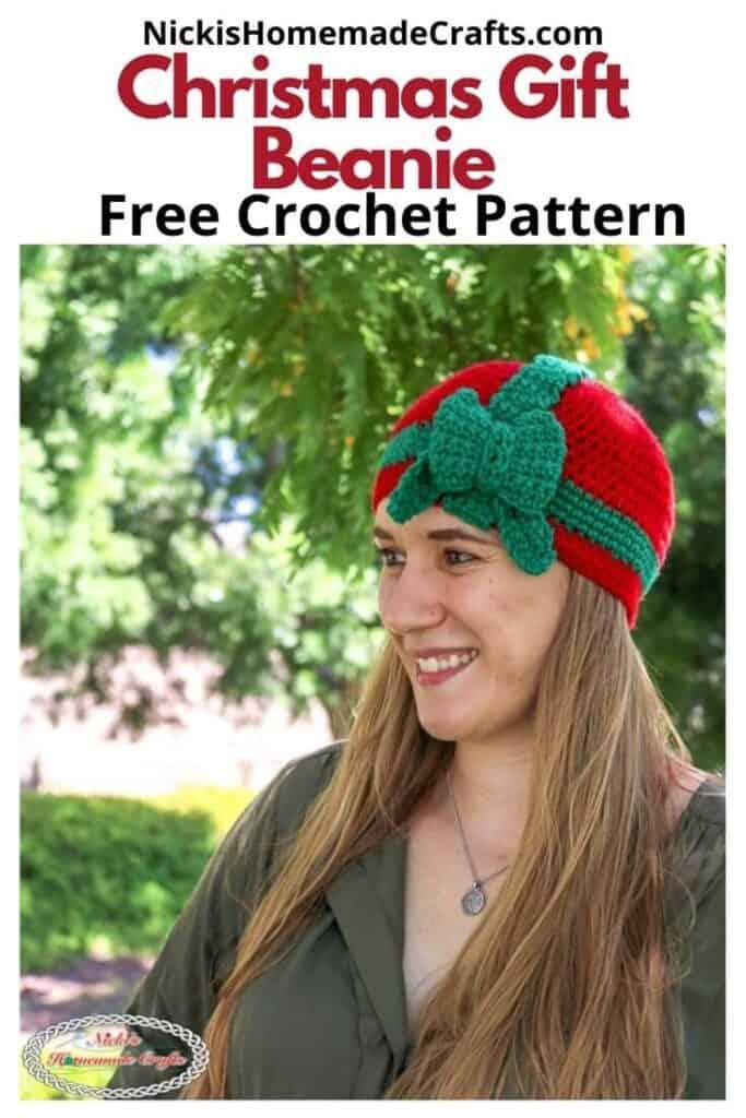 Crochet Christmas Git Beanie