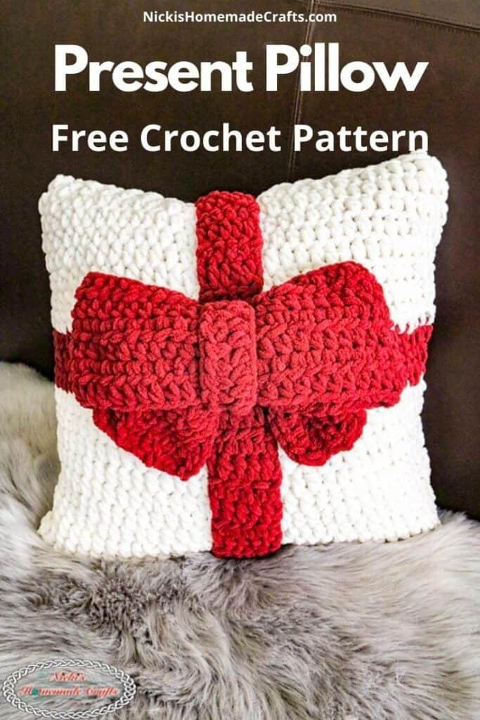 Crochet Present Pillow
