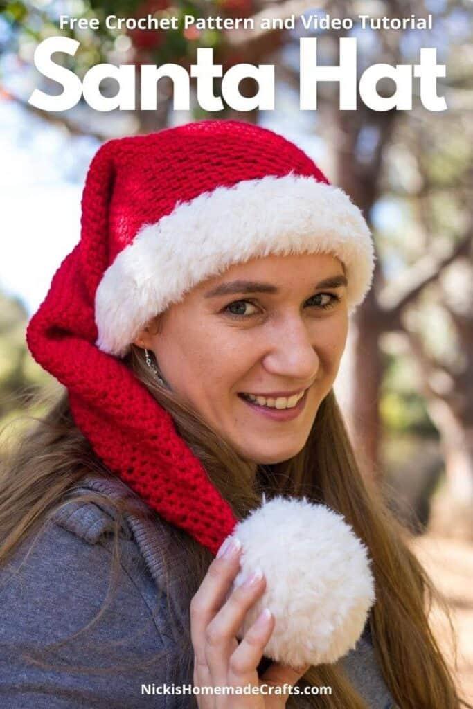 Crochet Santa Hat - Free Pattern