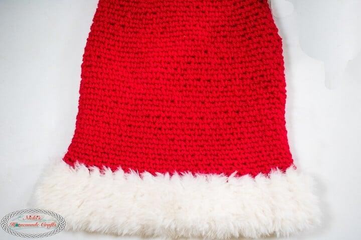 Crochet Santa Hat Pattern ribbing