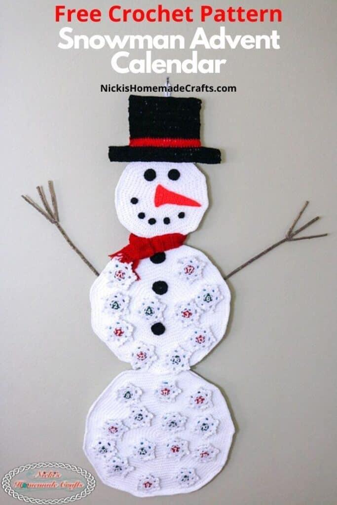 Crochet Snowman Advent Calendar