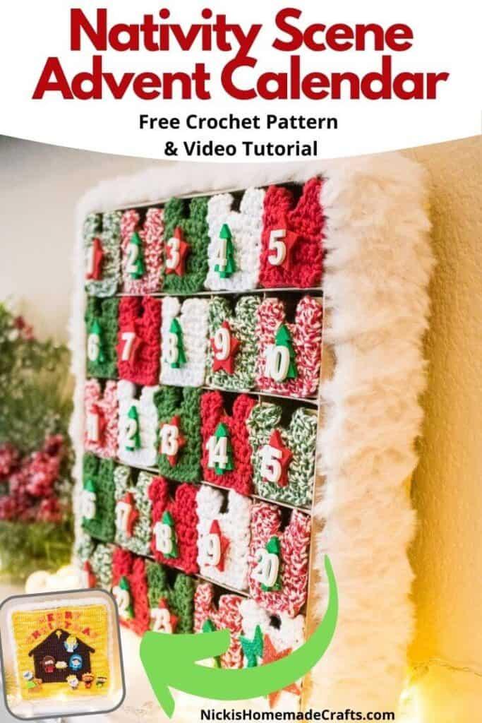 Free Nativity Scene Advent Calendar Crochet Pattern