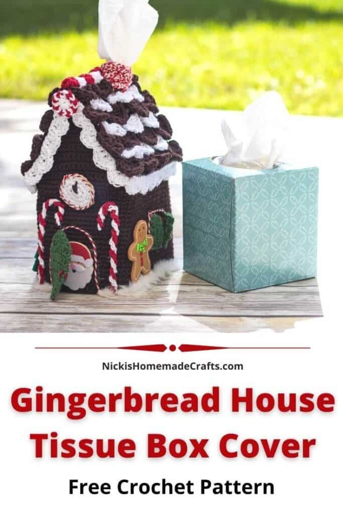 Gingerbread House Tissue Box Cover Crochet Pattern
