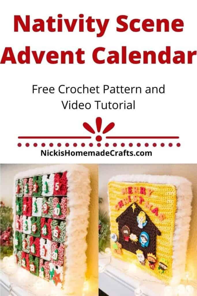 Nativity Scene Advent Calendar Crochet pattern