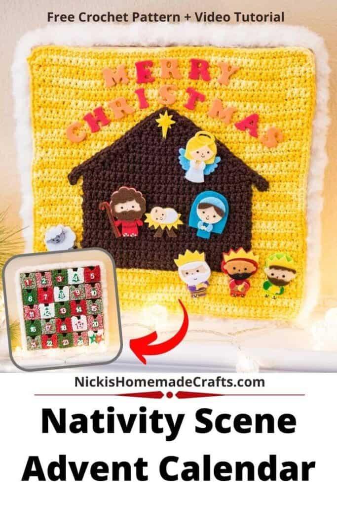 Reversible Nativity Scene Advent Calendar Crochet Pattern