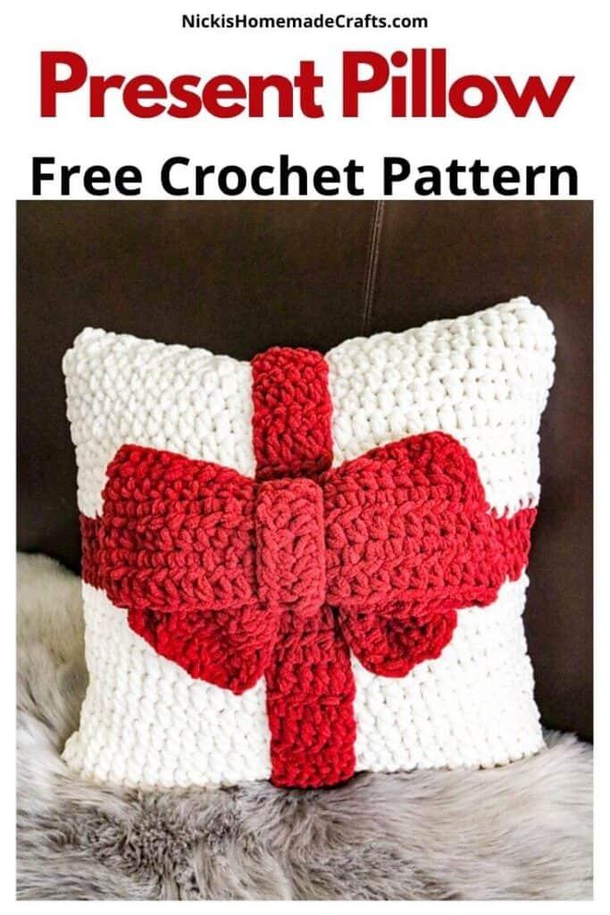 Present Pillow - Free Crochet Pattern