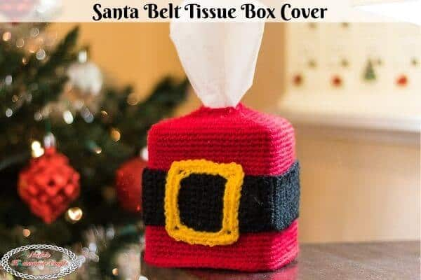 Santa Belt Tissue Box Cover