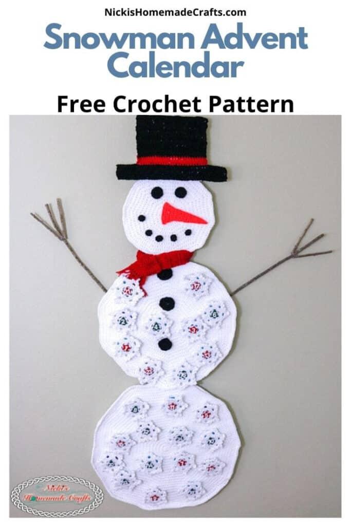 Snowman Advent Calendar - Free Crochet Pattern