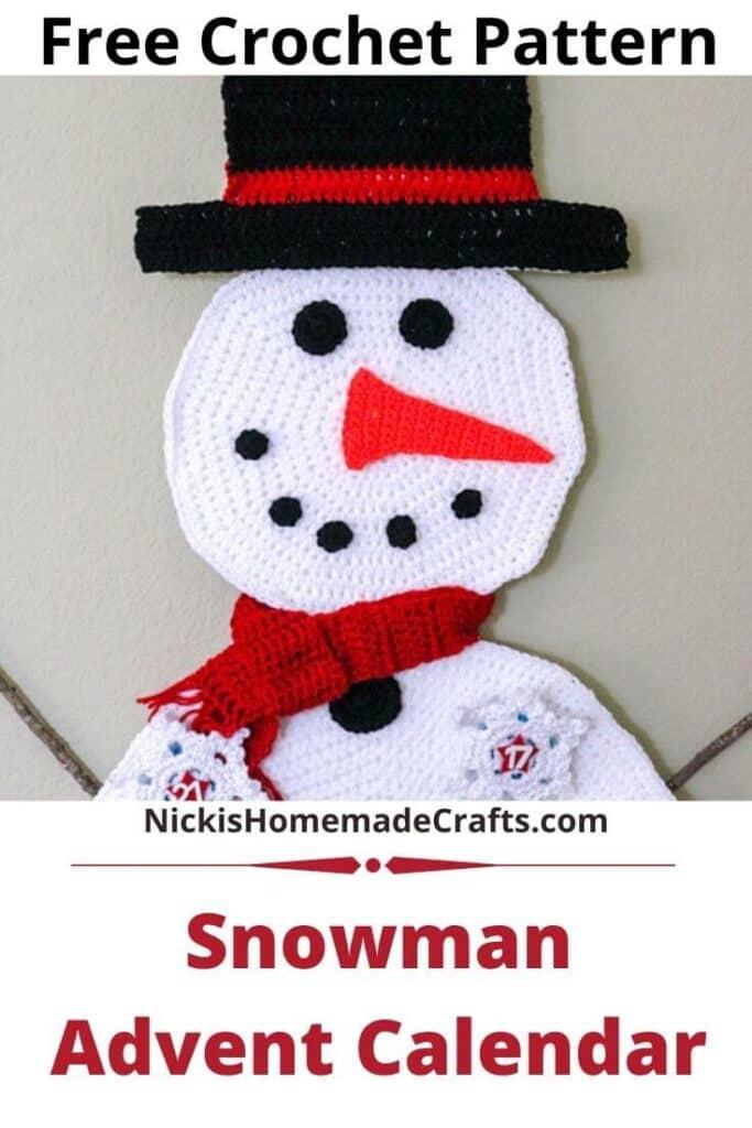 Snowman Advent Calendar Pattern
