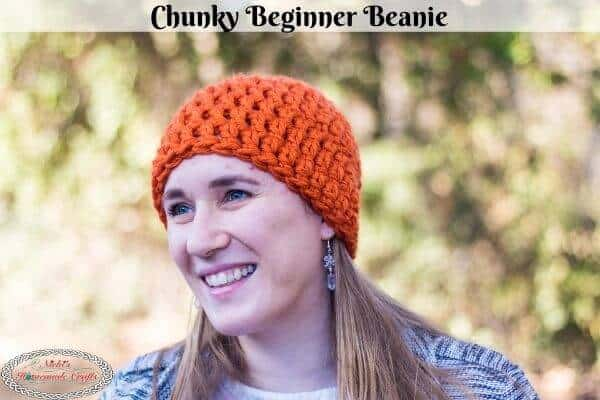 Chunky Beginner Beanie Free Crochet Pattern