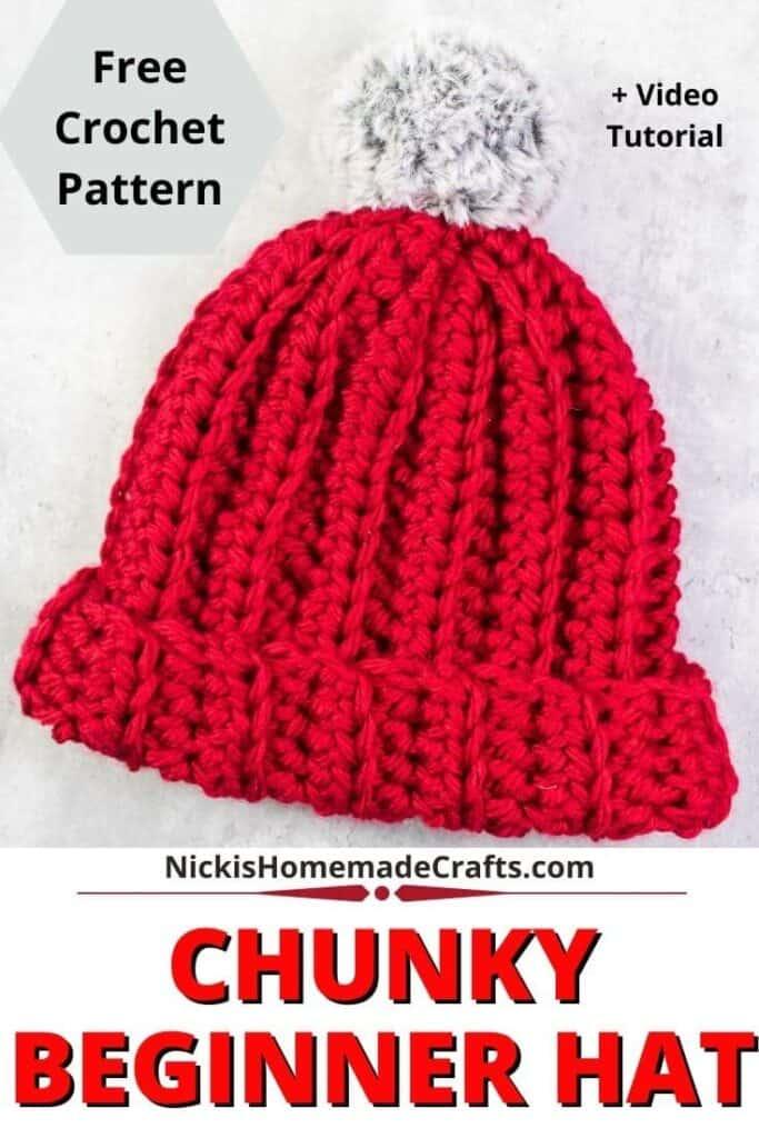Crochet Beginner Hat Slouchy