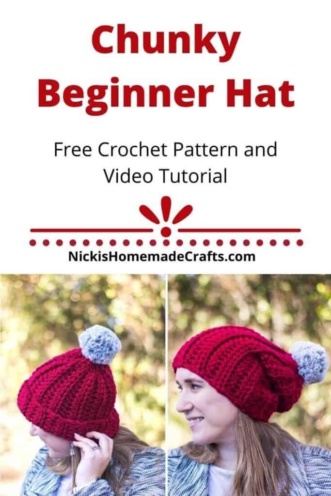 Crochet Chunky Beginner Hat Pattern