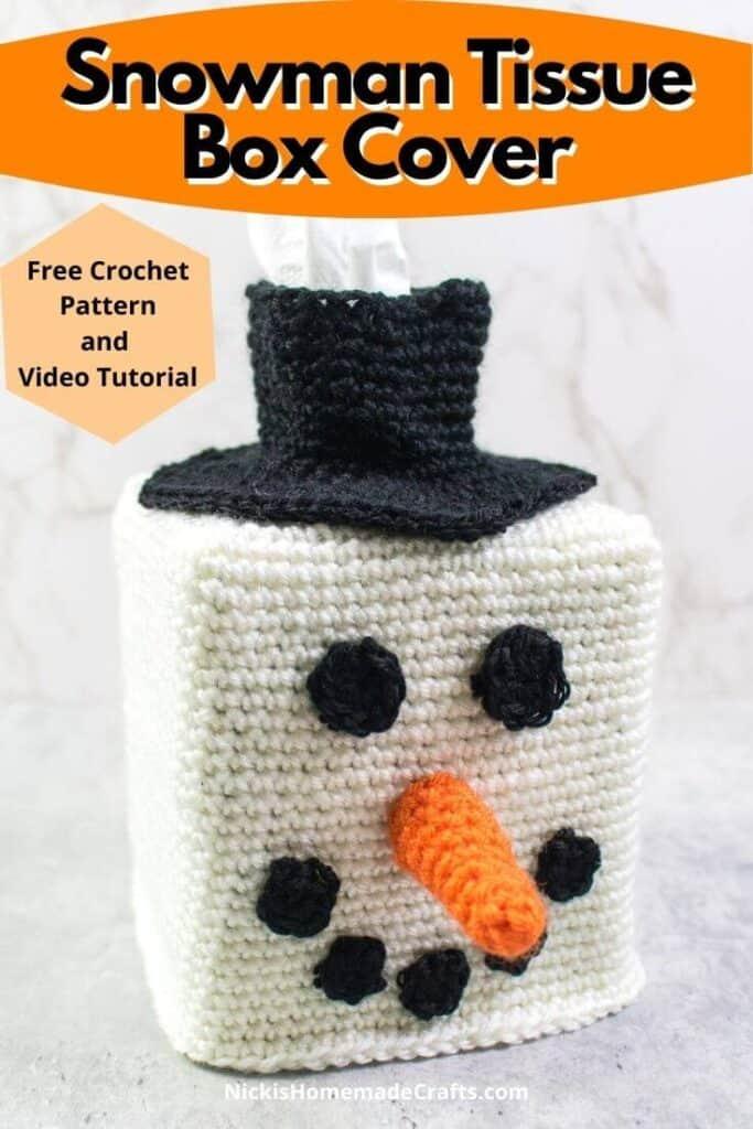 Snowman Head Tissue Box Cover Crochet Pattern
