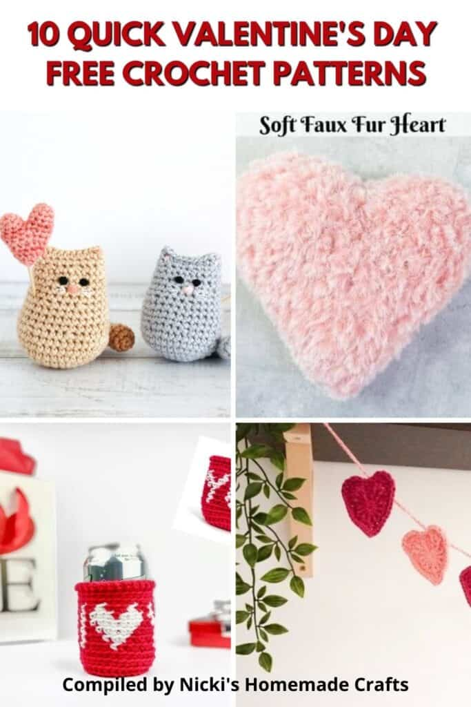 collection of free Valentine's Day crochet patterns
