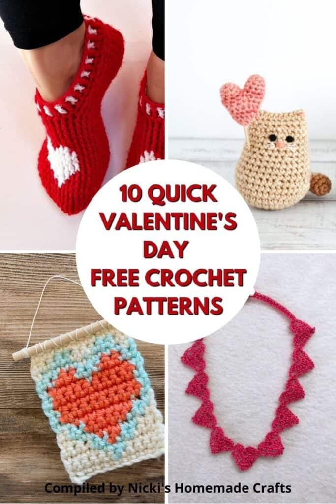 round up of free Valentine's crochet patterns