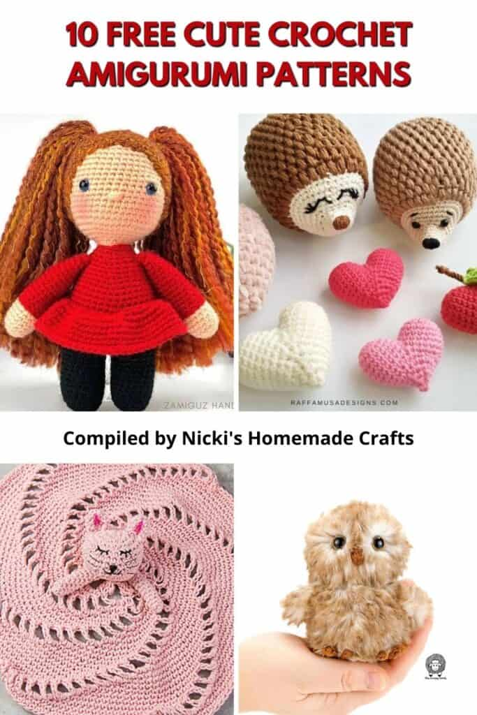 cute crochet toys round up on Nicki'c Homemade Crafts
