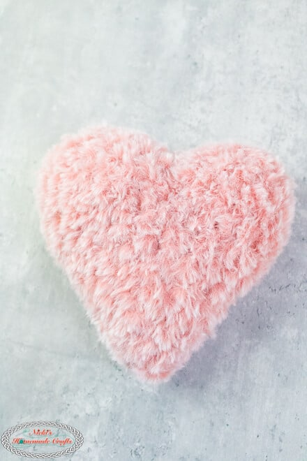 Soft Faux Fur Heart Pillow