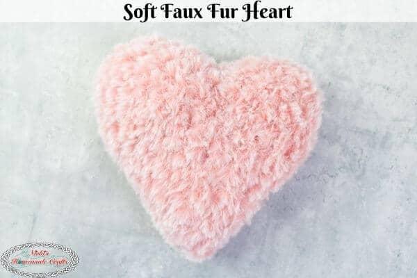 Crochet Faux Fur Heart Free Pattern for Valentine's Day