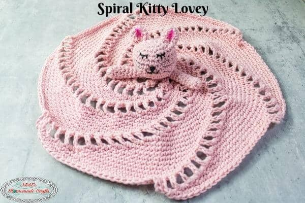Crochet Spiral Kitty Lovey Free Pattern