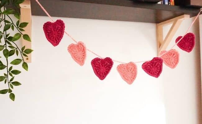 Heart Garland decor for Valentine's Day