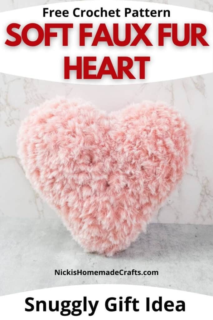 Quick Crochet Faux Fur Heart Pattern