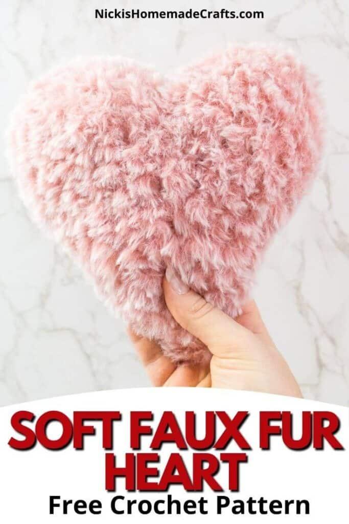 Soft Crochet Faux Fur Heart Pattern