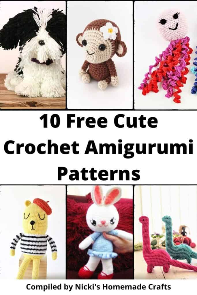round up of cute crochet amigurumi patterns