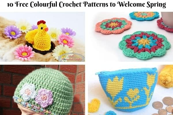 10 Free Colourful Crochet Patterns to Welcome Spring