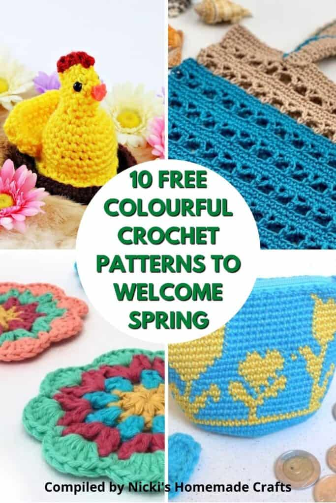 round up of spring colourful crochet project ideas