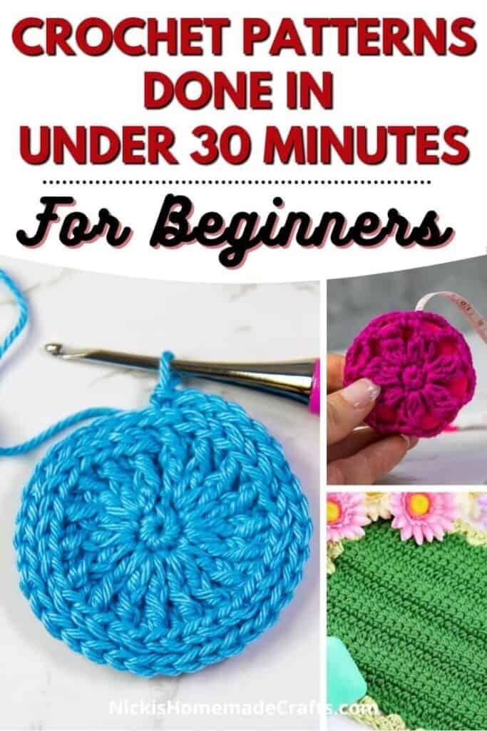 5 Beginner Crochet Patterns in under 30 minutes 2