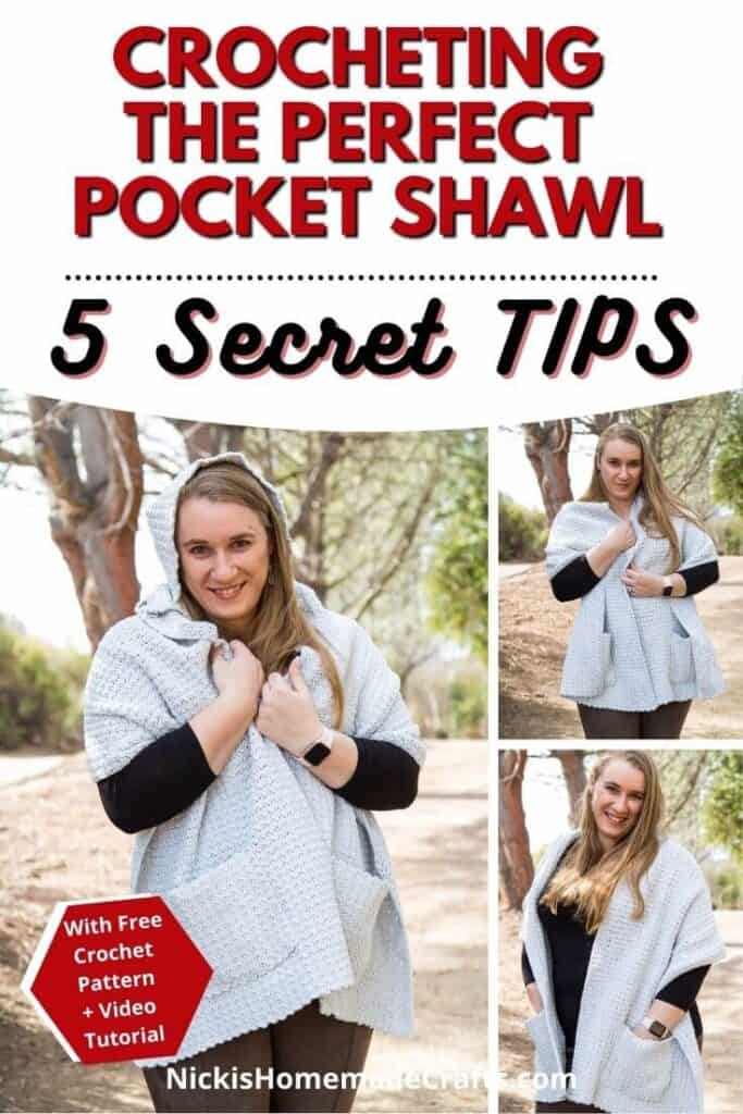 5 Secret tips to Crochet a Perfect Pocket Shawl