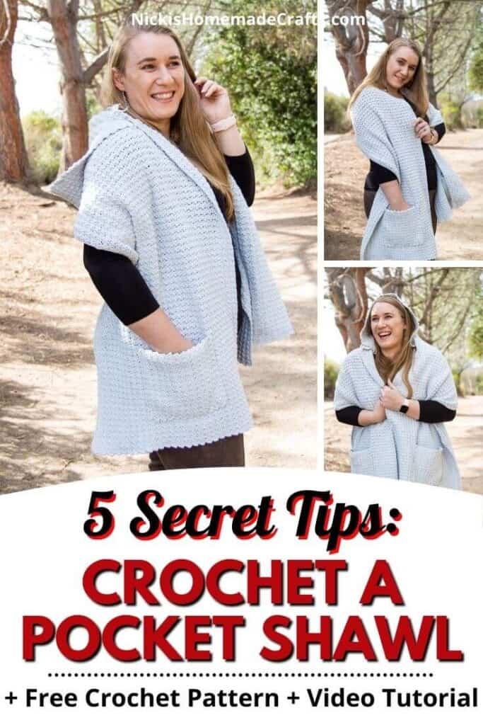 5 tips to Crochet a Pocket Shawl