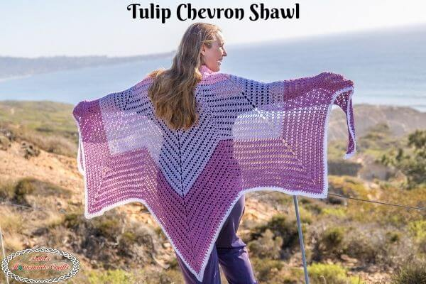 Chevron Shawl Crochet Pattern Free