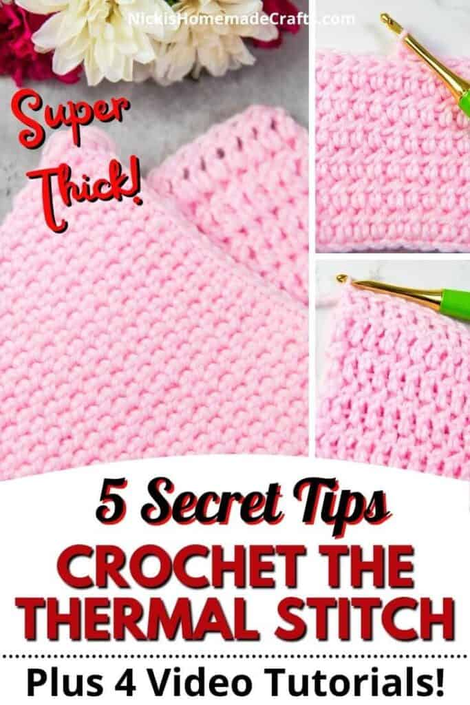 Crochet Thermal Stitch Video Tutorial Tips