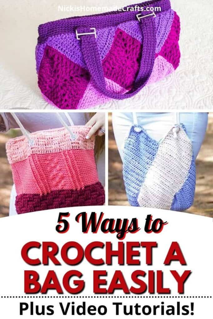 Crochet a Bag in 5 ways differently easily