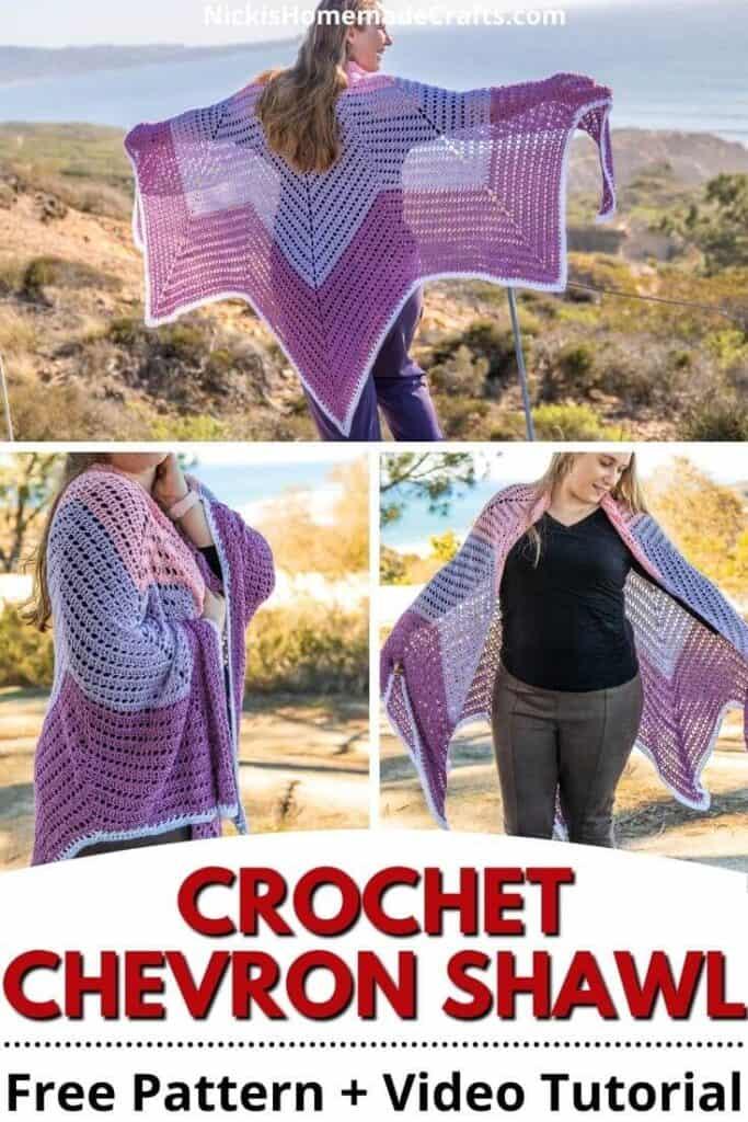 Easy Crochet Chevron Shawl Free Pattern