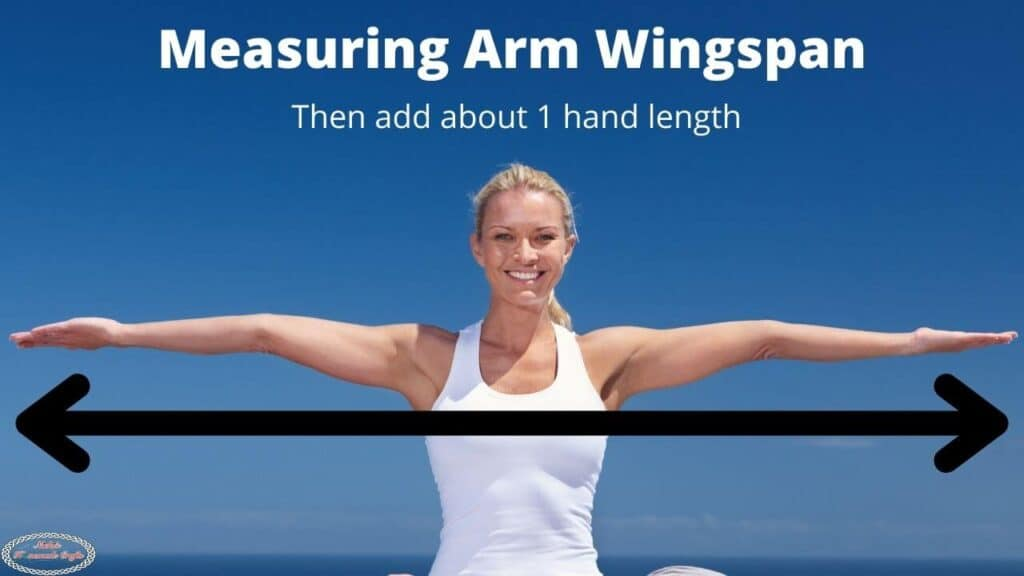Measuring Arm Wingspan for Pocket Shawl