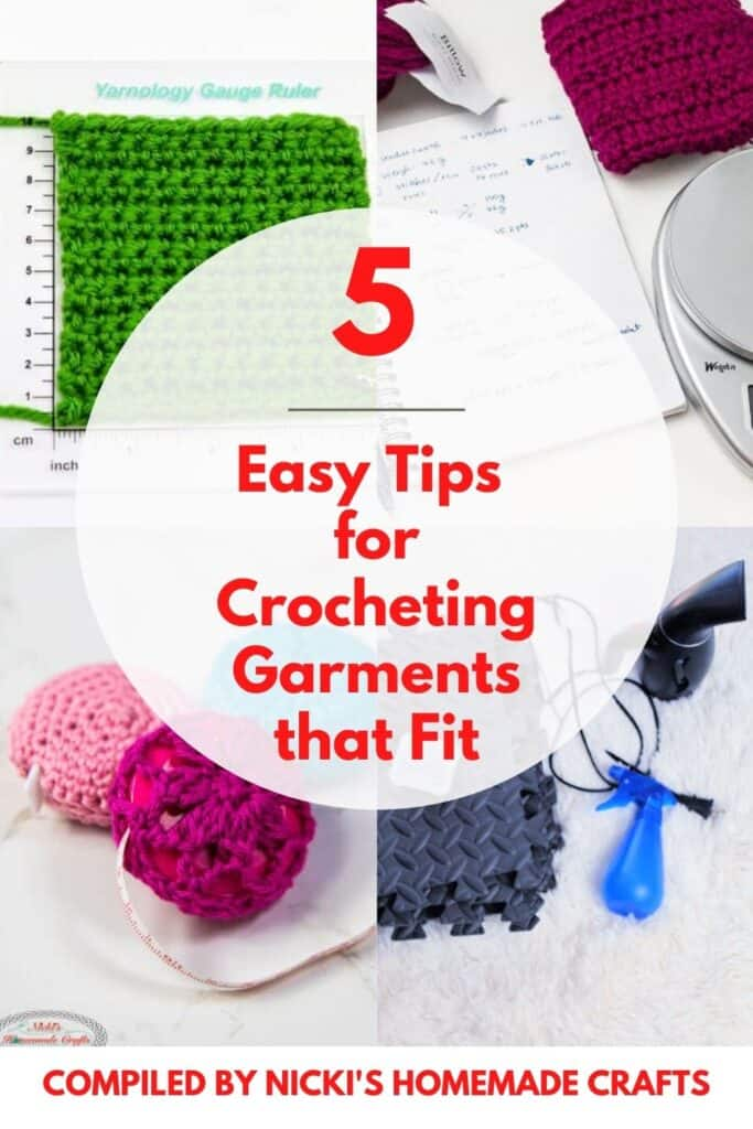 guide to make crochet garments fit