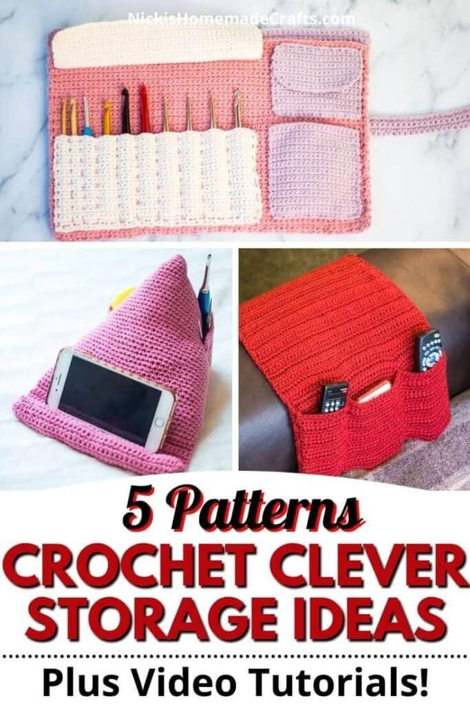 5 Crochet clever Storage Ideas Patterns