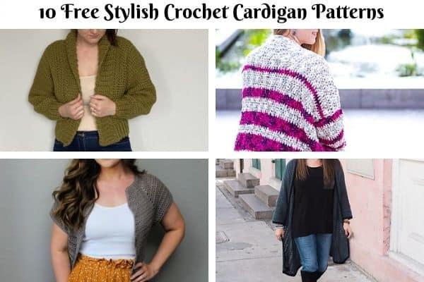free stylish crochet garments