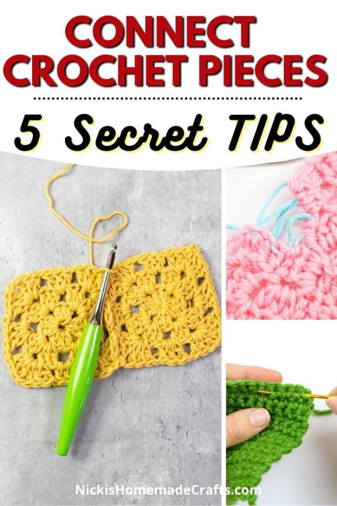 Connect and Join Crochet Pieces together 5 ways