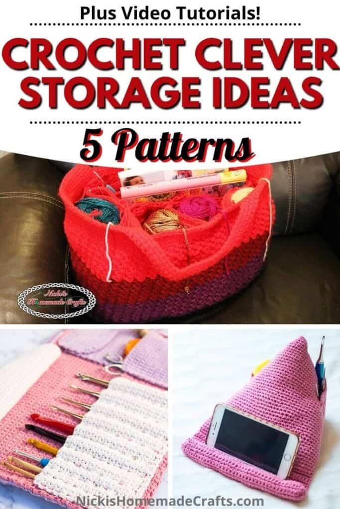 Crochet clever Storage Ideas Patterns