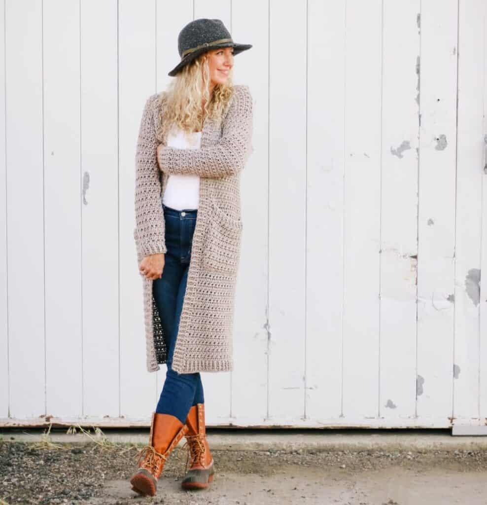 long crochet duster cardigan