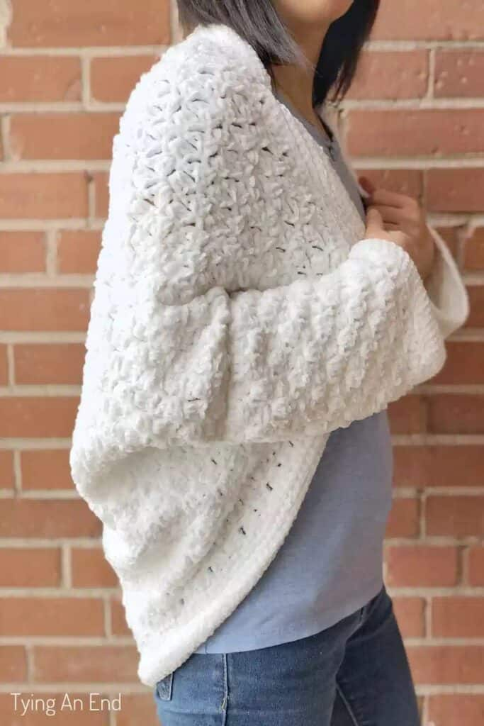 corner to corner crochet shrug