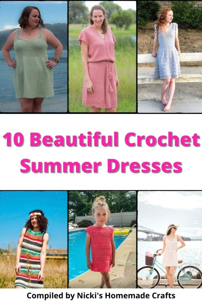 Summer Dress Crochet Pattern Collection Picture collage