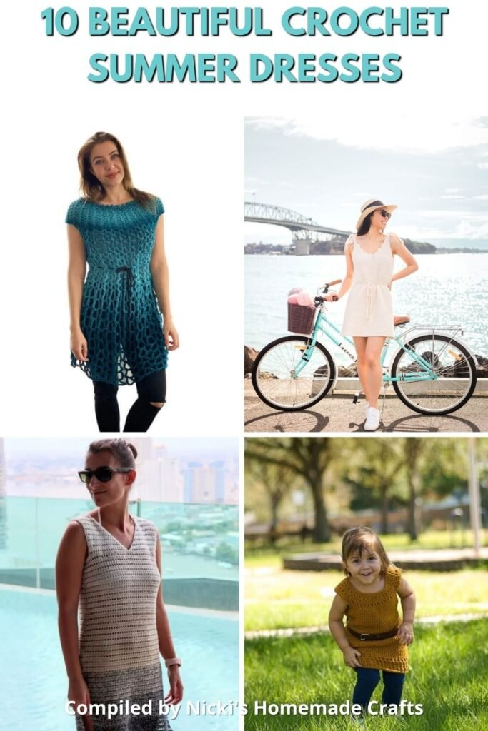 crochet summer dresses for this summer for kids and adults