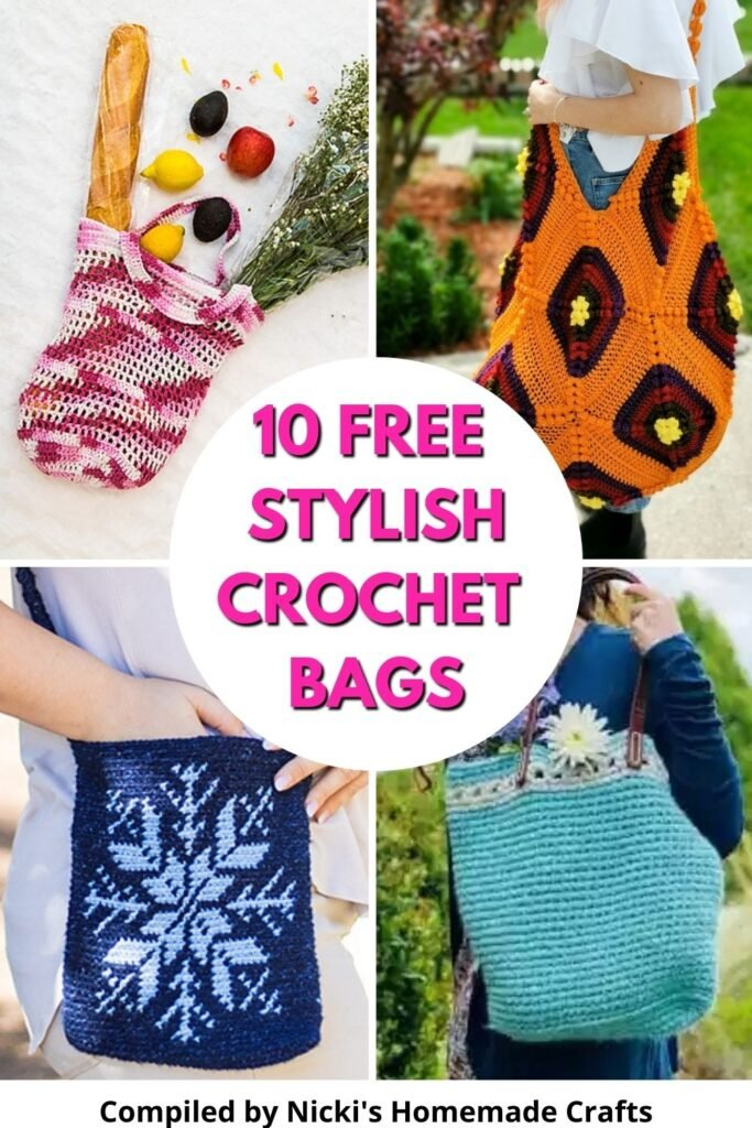 collection of free stylish crochet bags