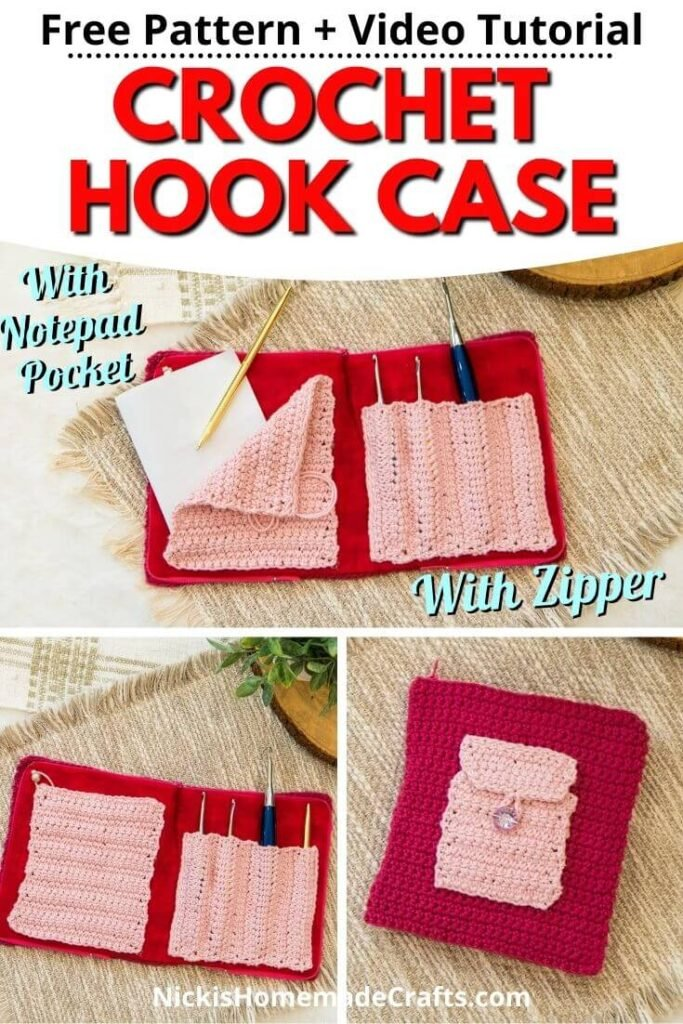 Crochet Hook Case with Zipper and Pocket Free Pattern